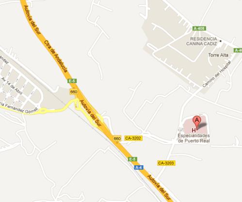 Mapa Hospital Puerto Real